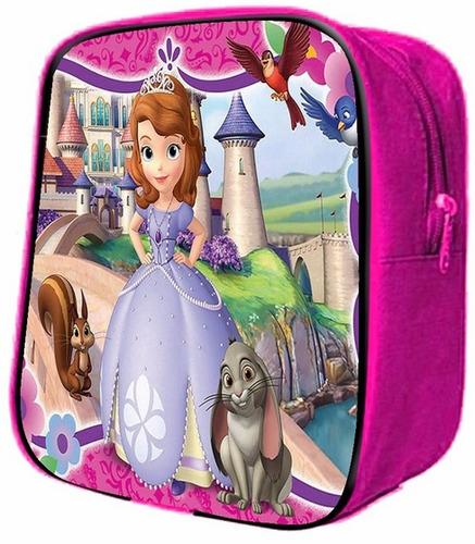 paq 25 pza mochilitas dulceros recuerdos princesita sofia