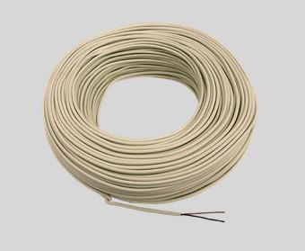 paq 2pzs rollo 100m cable telefónico 2 vias redondo marfil