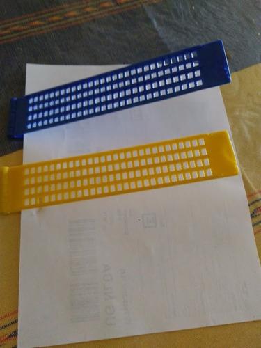 paq. 3 regletas para escritura braille con punzones regleta