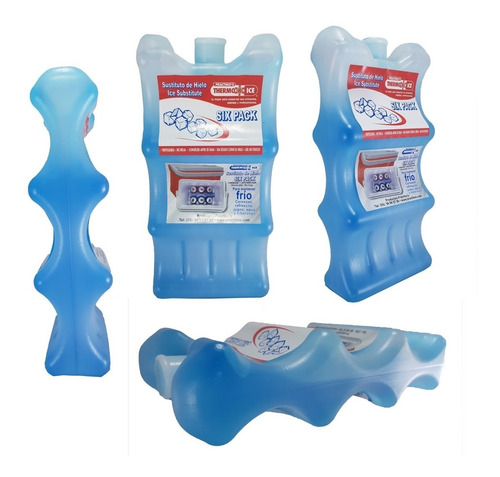 paq 4 botellas sustituto de hielo curvados pra latas bebidas