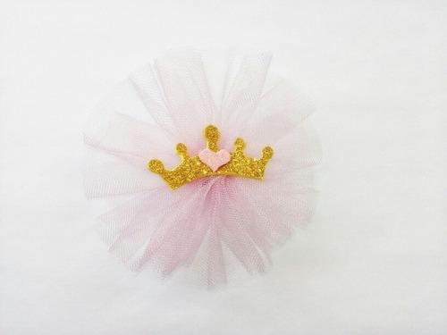 paq. 60 distintivos de niña corona de princesa