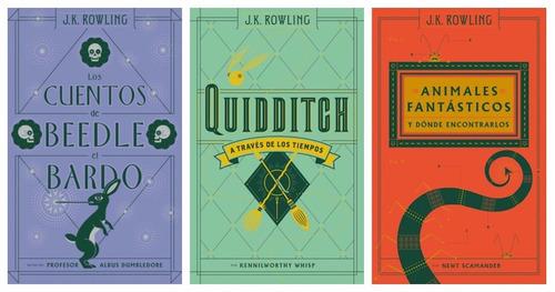 paq. animales + quidditch + cuentos de beedle + legado