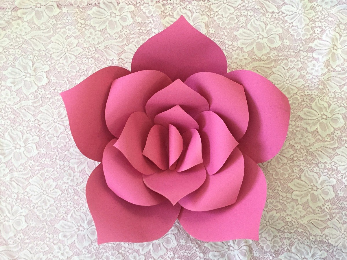 Paq c 5 flores decorativas gigantes de papel cartulina 20cm en mercado libre - Figuras decorativas grandes ...