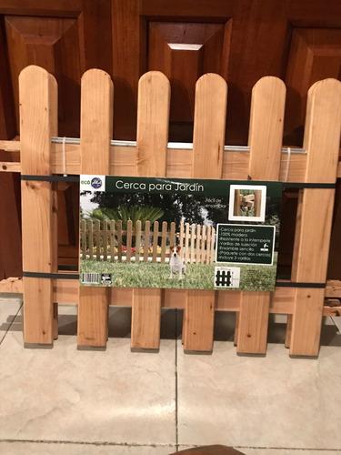paq de 2 cercas de madera jardín-piso envio gratis