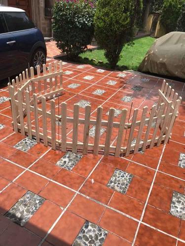 paq de 2 cercas de madera jardín-piso envio gratis sistema unico de ensamble