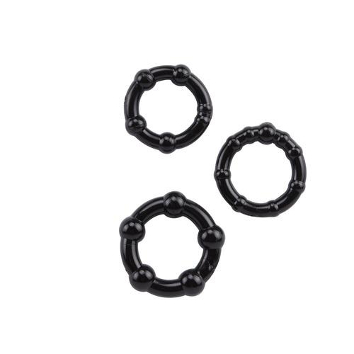 paq de 3 anillos o ligas para prolongar eyaculación erección