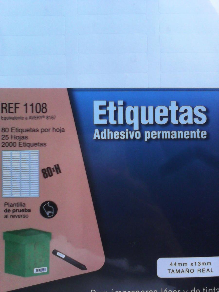 Paq. De Etiqueta Adhesivas Imp. Laser Ref. 1108 - Bs. 400,00 en ...