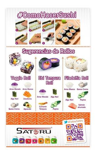 paq. de productos para hacer sushi con arroz cocido incluido