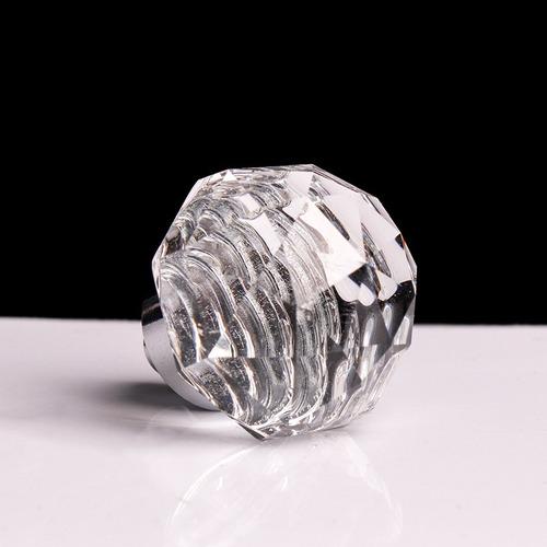 paquete 10 jaladeras cristal hongo herrajes perillas manijas
