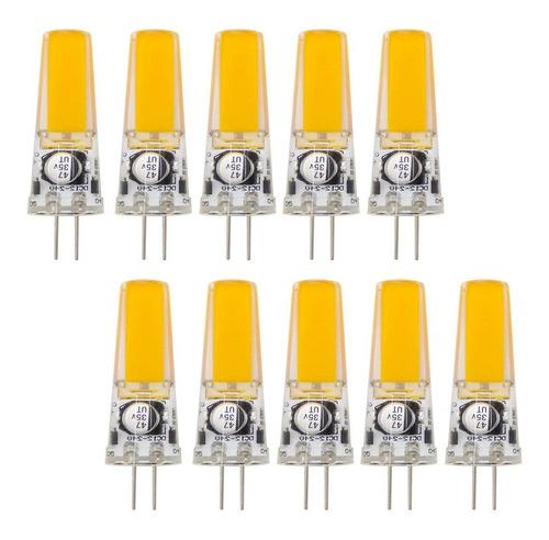 paquete 10, paquete 10, g4 bombilla led 12v-24v dc o 12v ac