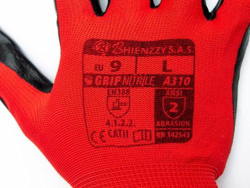 paquete 10 par de guantes de nylon y nitrilo certificados