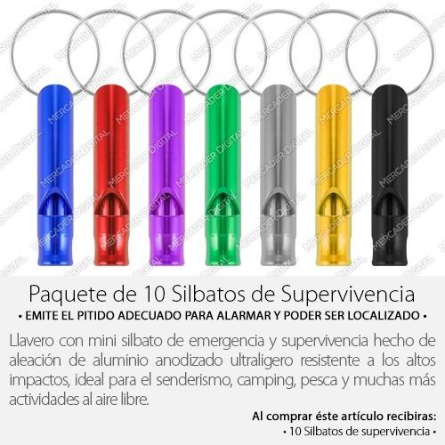 paquete 10 silbato de supervivencia / emergencia / mayoreo