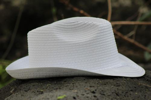 paquete 10 sombrero boda blanco tipo reggaeton fiesta baile