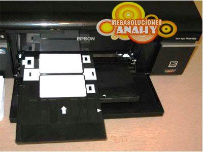 paquete 10 tarjetas pvc para impresora epson t50, r290, l800