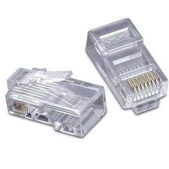 Paquete 100 Piezas Plug Conector Rj45 Cable Red Utp Cat6