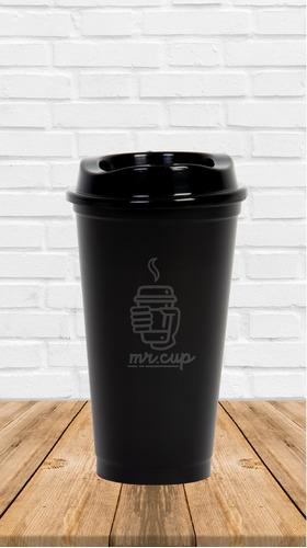 paquete 100 vasos reusables para cafe tipo starbucks