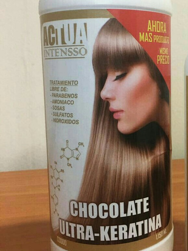 paquete 12 botellas 1100ml actua chocolate ultra-keratina