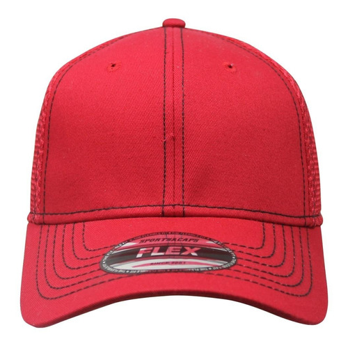paquete 12 gorras sc flex algodon jersey panel rojo unitalla