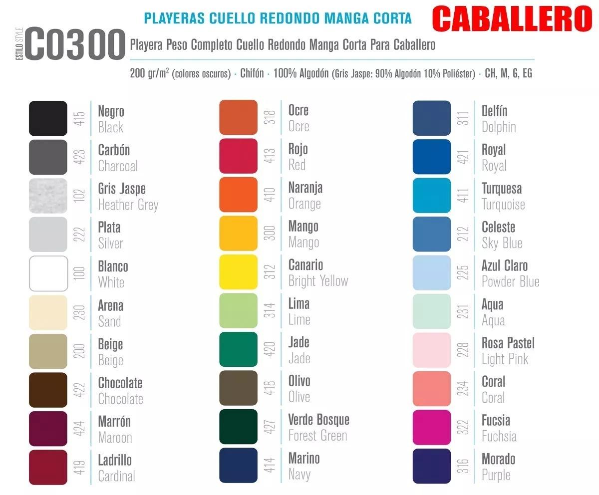 ad9ebe607c79d Paquete 13 Playeras Yazbek Cuello Redondo Dama Y Caballero ...