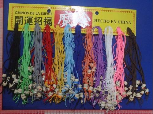 paquete 144 chinitos de la suerte de colores madera