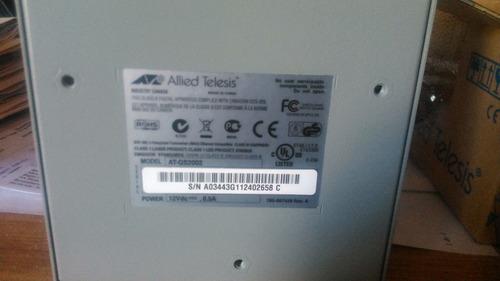 paquete 2 convertidores de medios fibra-utp allied telesis