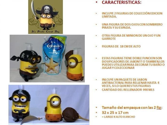 Paquete 2 Muñecos Minions Piratas Del Caribe 18cm Mi Villano ...