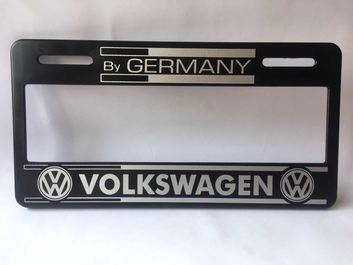 Paquete 2 Portaplacas 4 Tap Valv C/seg Vw Germany Envio Inc