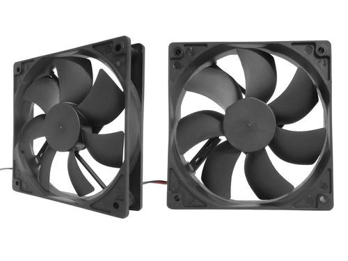 paquete 2 ventiladores xcase 12cm conector molex nuevos