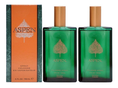paquete 2 x 1 de aspen 118 ml cologne spray de aspen