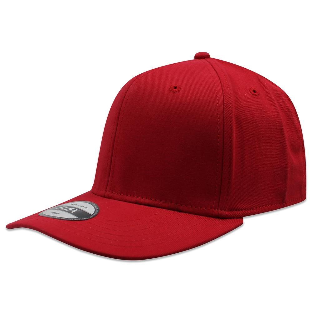 paquete 24 gorras lisa sc algodón fifted flex rojo. Cargando zoom. 5b73e40d475