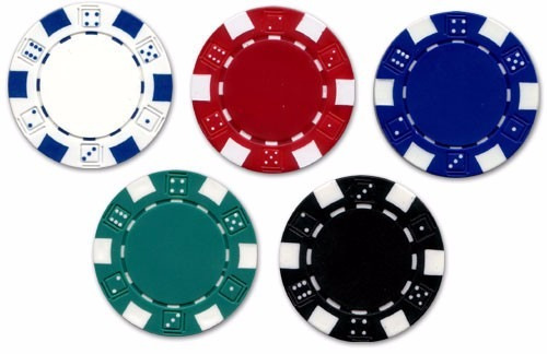 paquete 25 fichas  poker / casino profesionales,color verde