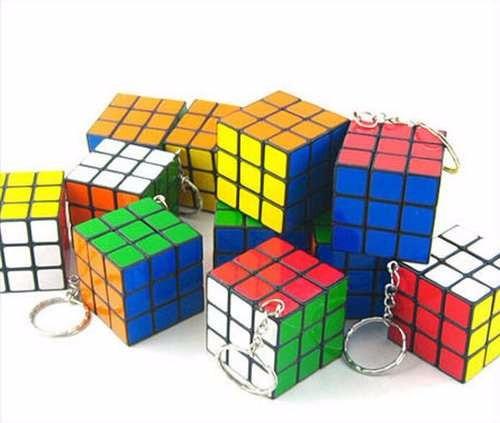 paquete 28 llaveros cubo mágico tipo rubik envío gratis