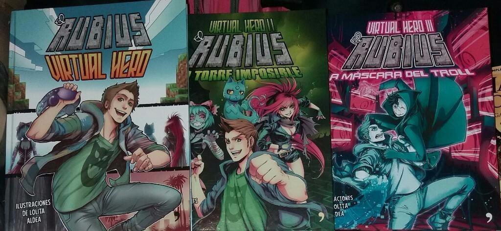 Dónde Comprar Los Libros De El Rubius: Paquete 3 Libros Rubius Virtual Hero 1, 2 Y 3 Precio
