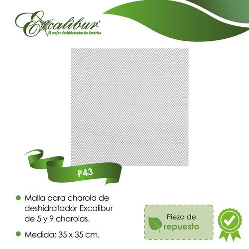 paquete 3 pzas malla flexible p/deshidratador excalibur p43