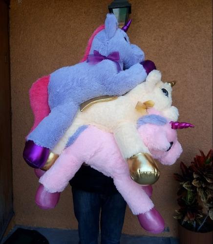 paquete 3 unicornios peluche fino 80 cm envio gratis