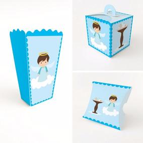 Cajitas Para Bautizo Nino.Paquete 30 Cajas Mesa De Dulces Recuerdos Bautizo Nino