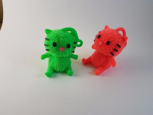 paquete 4 juguetes squishy gatos blancos con luz