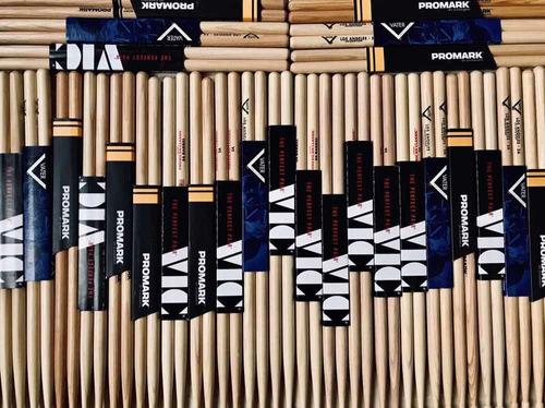 paquete 4 pares baquetas vater 5a los angeles punta madera