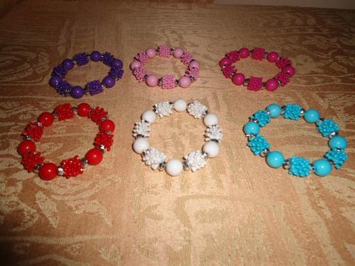 paquete 4 pulseras para niñas de moda