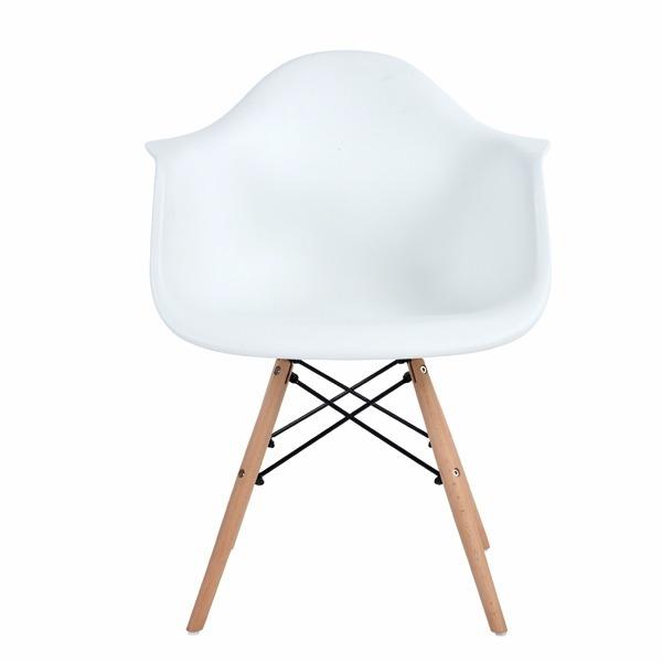 Paquete 4 sillas eames con brazos sillas comedor for Sillas comedor con brazos