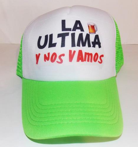 paquete 5 gorras personalizadas malla fiesta esponja neon