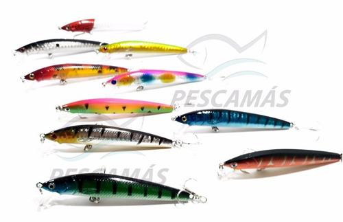 paquete 5 señuelos probero popper pesca rios mar laguna