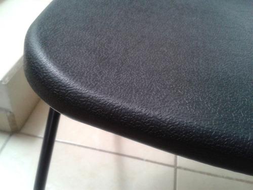 paquete 5 sillas plasticas plegables refuerzo negra cal 16