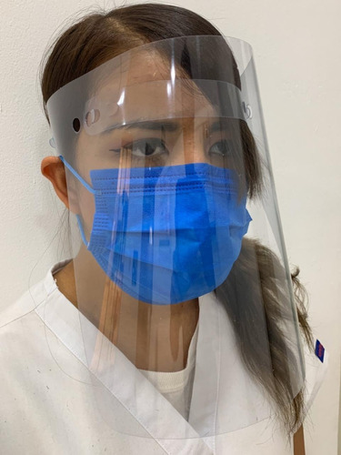 paquete 50 protectores careta facial ojo viene con detalles