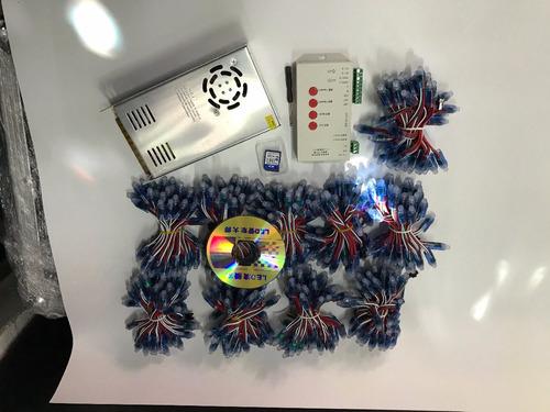 paquete 500 leds pixel + controlador t1000 + fuente 70amp 5v
