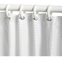 paquete: 6 cortineros ajustables p/baño 3 chicos y 3 mediano