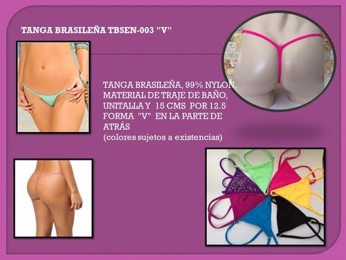 paquete 6 tangas brasileñas  a elegir, + envio gratis