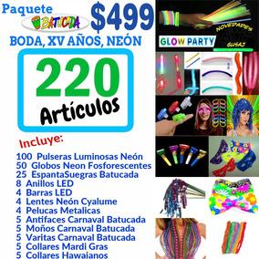 Paquete Animación Batucada 220 Art Boda Xv Años Neón Led Dj