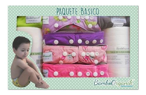 paquete básico (bambúorganik) pañales de bambú ecológicos