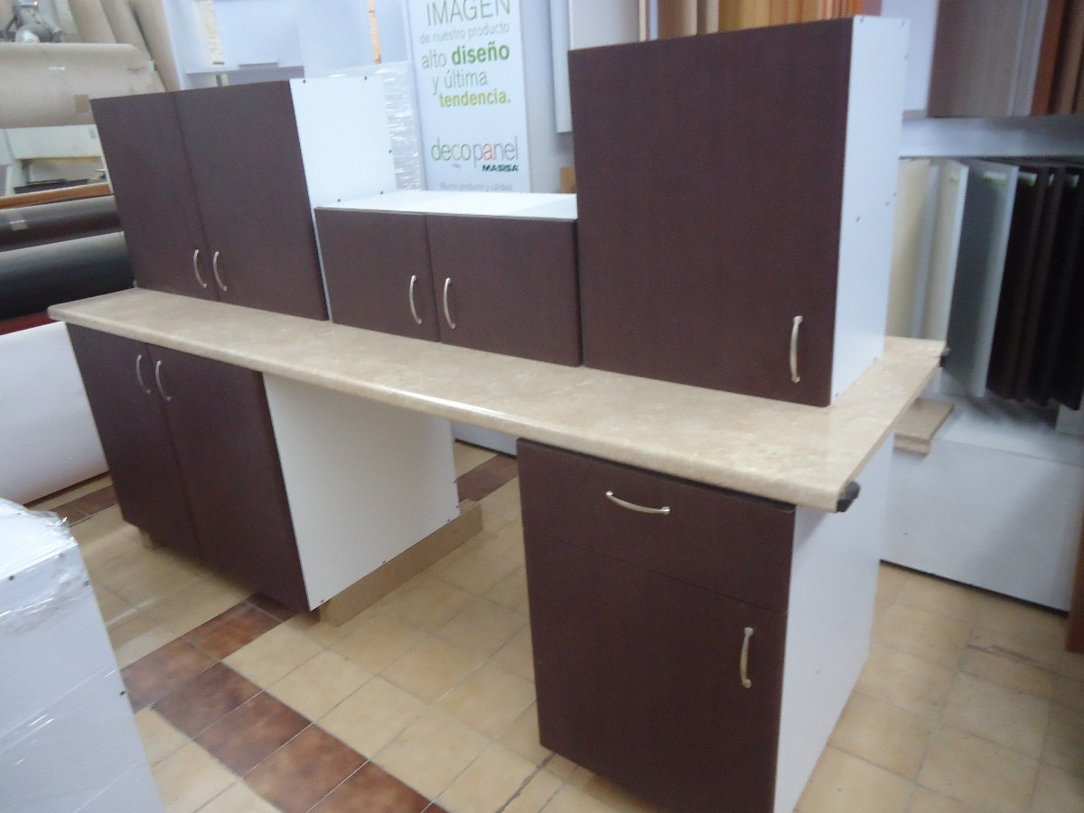 Paquete basico en promocion cocina con 5 modulos excelente for Muebles de cocina basicos